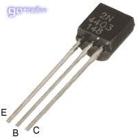 Внешний вид и цоколёвка транзистора 2N4403
