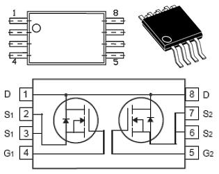 Цоколёвка и состав микросхемы S8205A