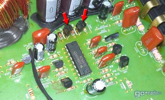 Буферные транзисторы в преобразователе напряжения