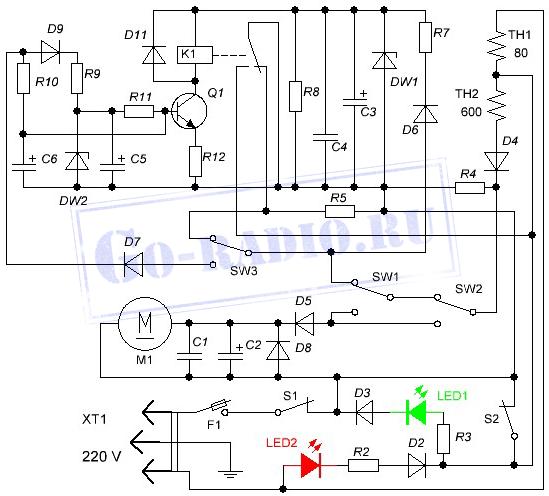 Схема термопота ELEKTA EKT-