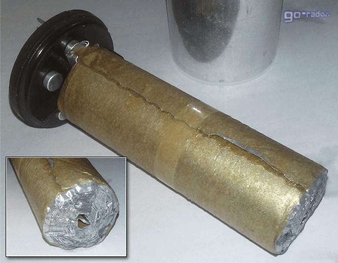 Электролитический конденсатор изнутри