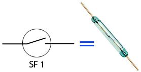 Условное обозначение геркона на схемах