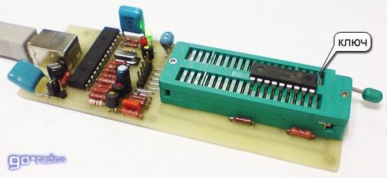 Установка микроконтроллера в панель