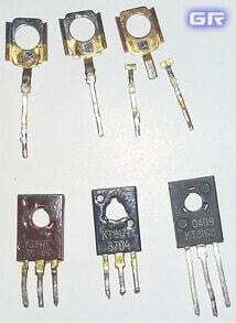 Транзисторы КТ8хх и их позолоченные основания