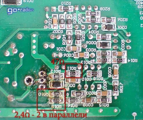 Сгоревшие smd-резисторы на печатной плате сварочного аппарата