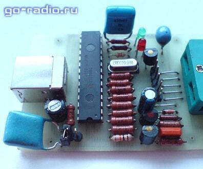 Микроконтроллер PIC18F2550 на плате программатора