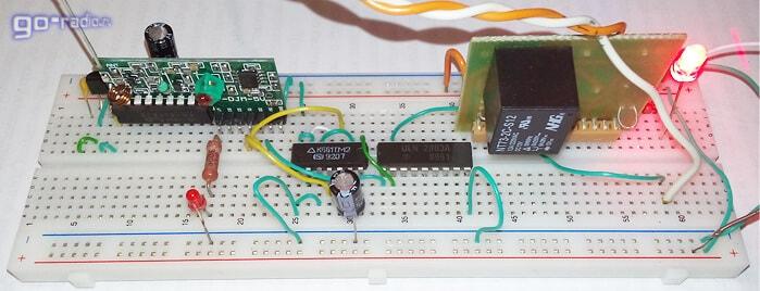 Подключение микросхемы ULN2803 к выходу триггера
