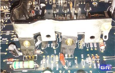 Установленные на радиатор транзисторы