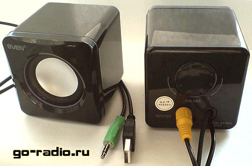 Портативные компьютерные USB колонки Sven 315
