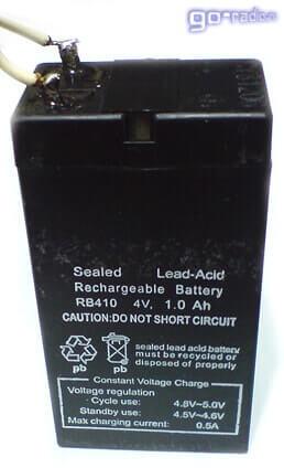 Герметичный свинцово-кислотный аккумулятор 4V 1A/h