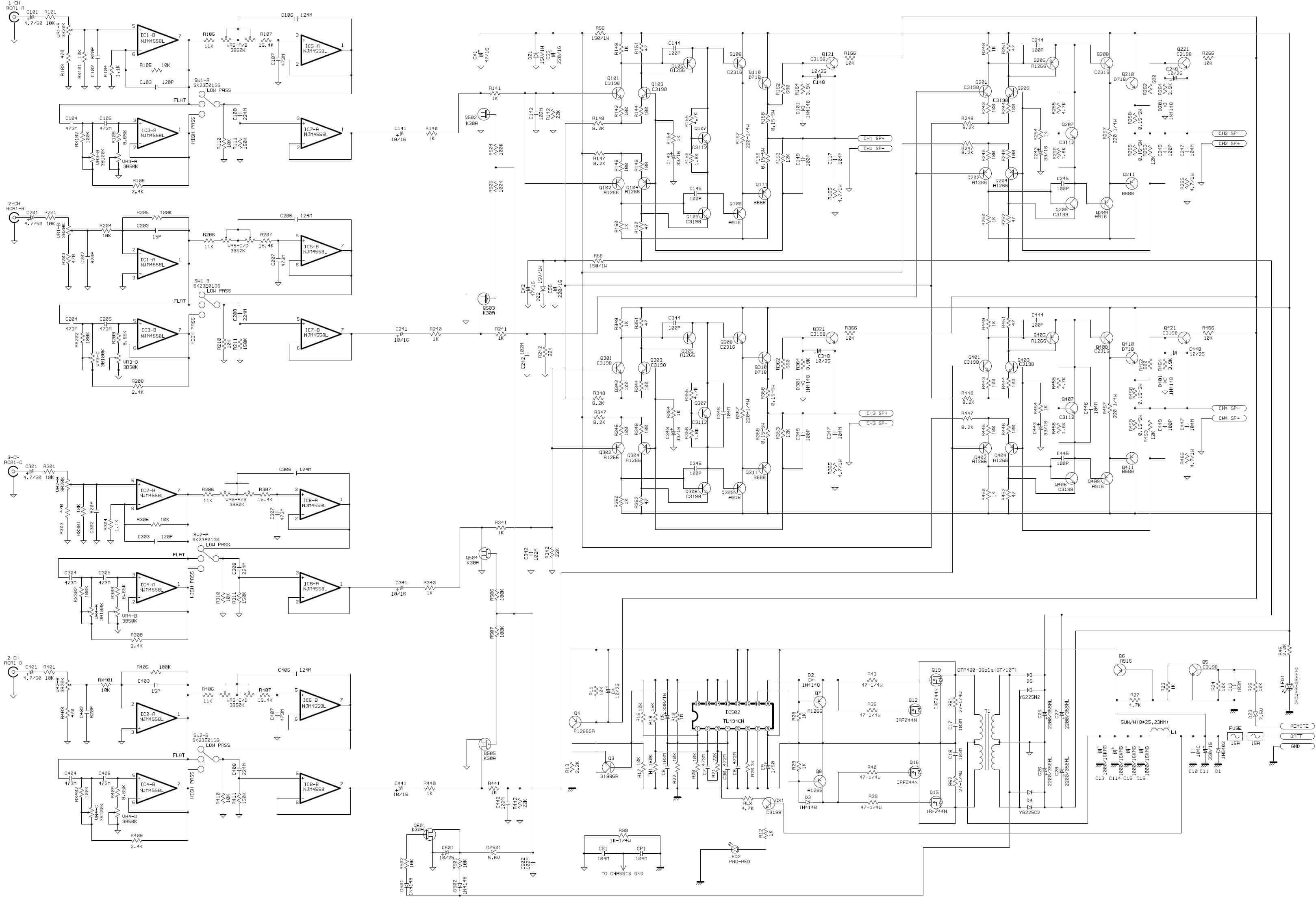 Схема авто усилителя сабвуфера фото 648