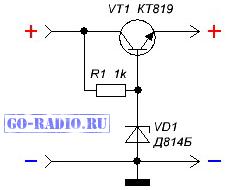 Стабилизатор напряжения 12 вольт на транзисторе своими руками