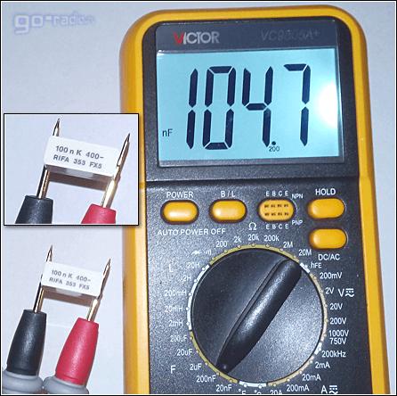 Замер ёмкости конденсатора 0,1 мкФ