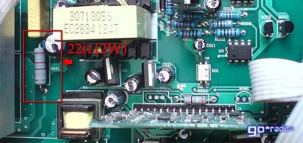 Резистор в обрыве