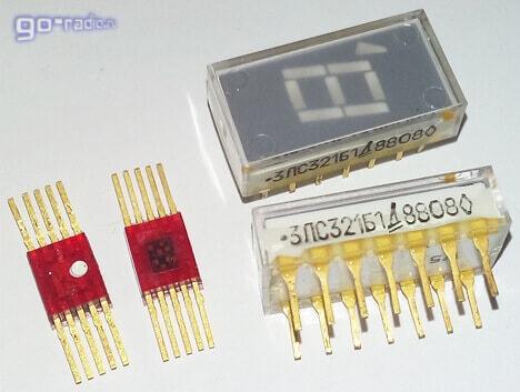 Индикаторы АЛС314А и 3ЛС321Б1 с позолоченными выводами