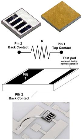Конструкция миниатюрного Back-Contact Resistor серии IGBR (Vishay)