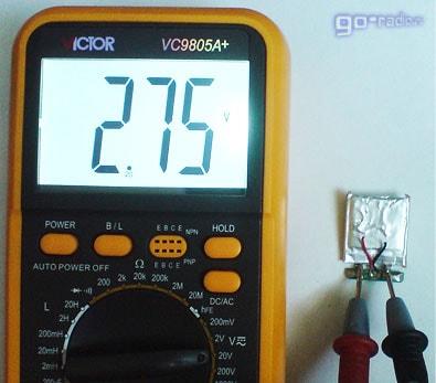 Напряжение на глубоко разряженной ячейке Li-polymer аккумулятора