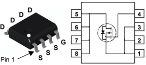 Цоколёвка транзистора FDS9435A