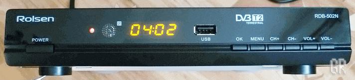 Цифровая DVB-T2 приставка Rolsen RDB-502N