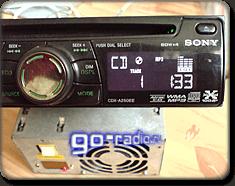 Энкодер на панели автомагнитолы SONY