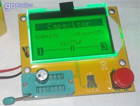 Очень плохой конденсатор (ESR=17 Ом!)