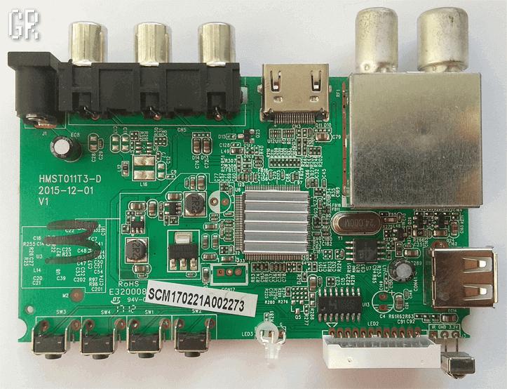 Main-плата HMST011T3-D 2015-12-01 V1 телевизионной приставки Digifors HD 71