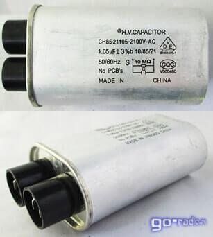 Высоковольтный конденсатор для СВЧ