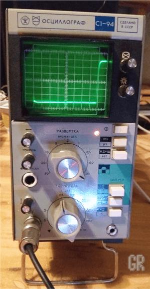 Импульс на экране осциллографа
