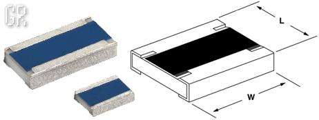 Внешний вид чип-резисторов с широкими боковыми электродами (Long Side Termination Chip Resistor)