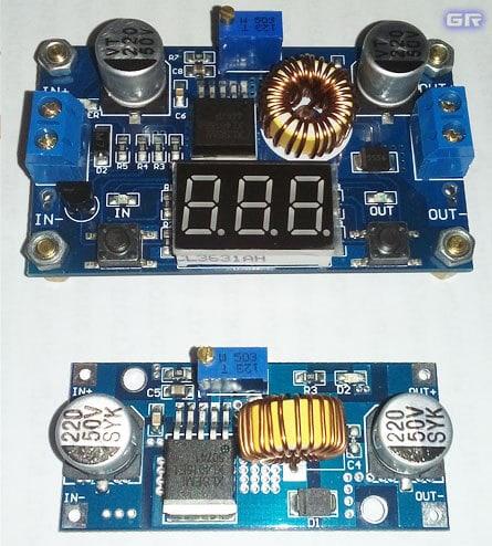 Версия DC-DC модуля с вольтметром и без