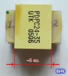 Толщина набора пластин PDPC24-35