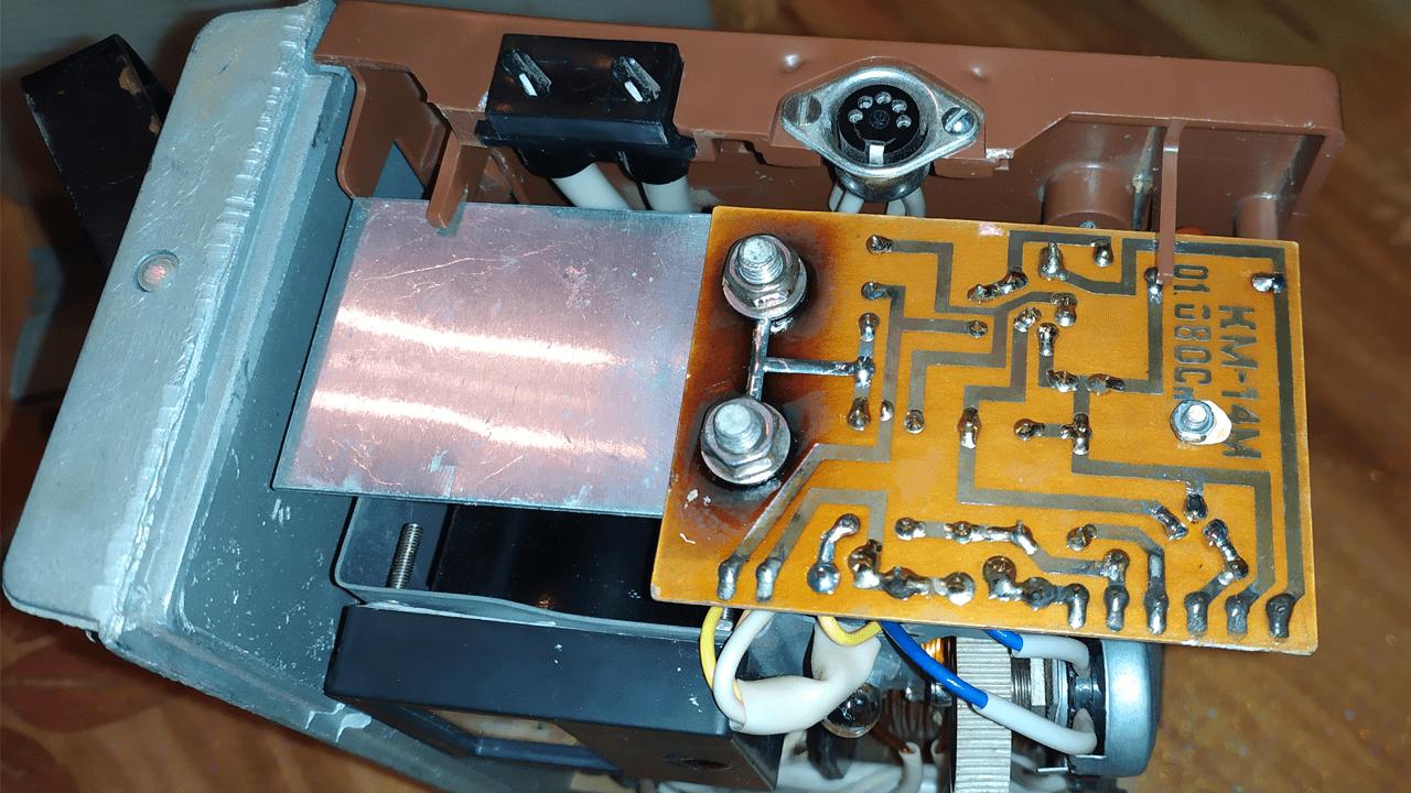 Печатная плата зарядного устройства с маркировкой КМ-14М 01.080Сп