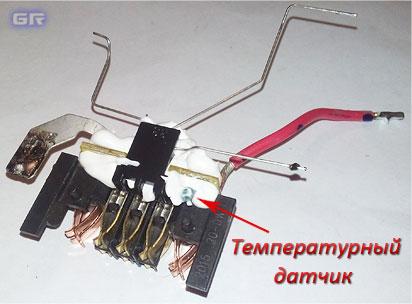 Разъём подключения, печатная плата с термодатчиком