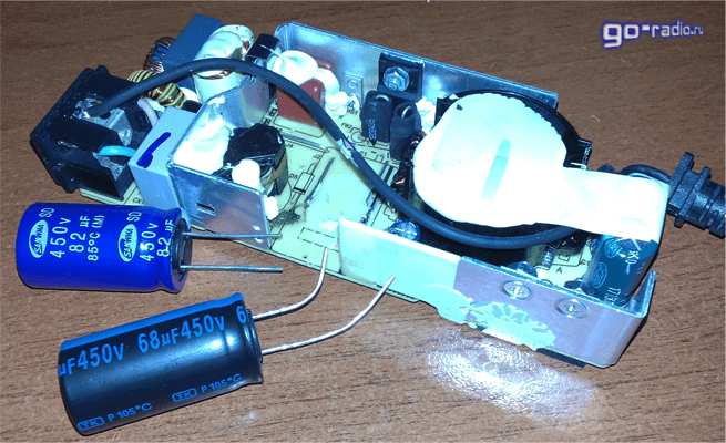 Подбираем конденсатор для замены