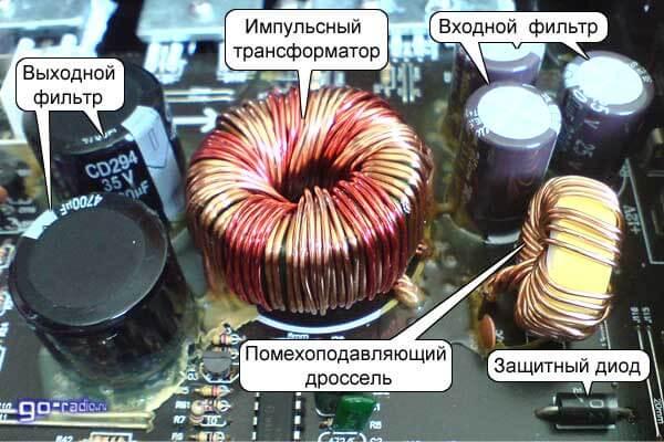 Импульсный трансформатор преобразователя
