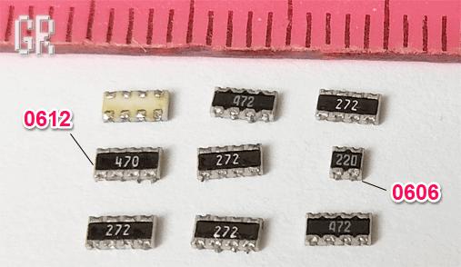 Резисторные чип-сборки типоразмера 0612 и 0606