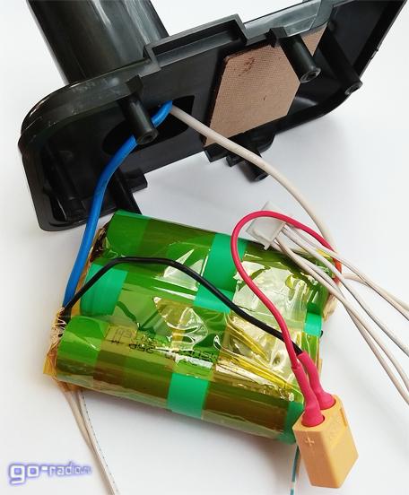 Установка сборки из литиевых аккумуляторов в корпус АКБ от шуруповёрта
