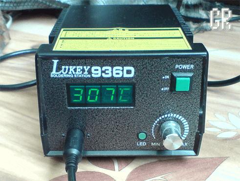 Стационарная паяльная станция Lukey 936D