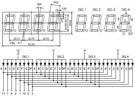 Цоколёвка семисегментного индикатора FYQ-5641BSR