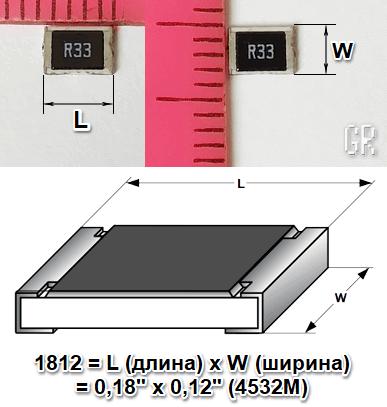 Числовое кодирование размеров корпуса SMD-резисторов