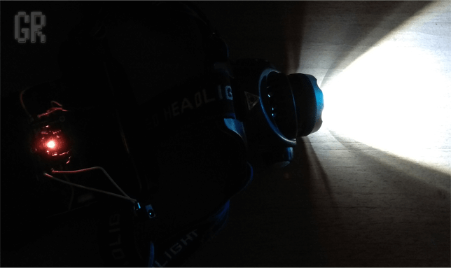Видимость дополнительного индикатора фонаря в темноте