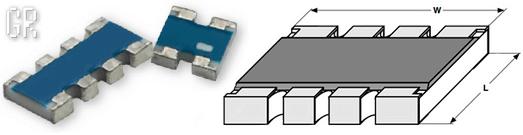 Внешний вид и размеры чип-резисторной сборки