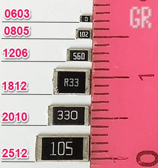 Внешний вид и типоразмер SMD-резистора